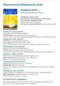 Plakat Ökumenische Bibelwoche 2020